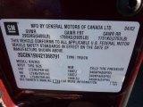 2002 Chevrolet Silverado 1500 Extended Cab 4x4 Info Tag
