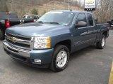 2009 Blue Granite Metallic Chevrolet Silverado 1500 LT Extended Cab 4x4 #47157162