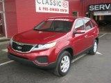 2011 Spicy Red Kia Sorento LX #47157613