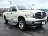 2008 Cool Vanilla White Dodge Ram 1500 Big Horn Edition Quad Cab 4x4 #47157620