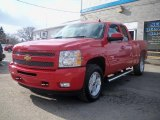2011 Victory Red Chevrolet Silverado 1500 LT Extended Cab 4x4 #47157247