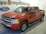 2009 Victory Red Chevrolet Silverado 1500 LS Crew Cab 4x4 #47190264