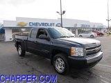 2008 Dark Blue Metallic Chevrolet Silverado 1500 LT Extended Cab 4x4 #47190562