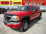 2005 Fire Red GMC Sierra 2500HD SLE Crew Cab 4x4 #47157859