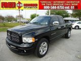 2004 Black Dodge Ram 1500 Laramie Quad Cab #47157869