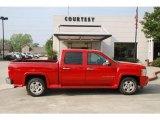 2008 Victory Red Chevrolet Silverado 1500 LT Crew Cab #47251985