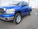 2007 Electric Blue Pearl Dodge Ram 1500 Big Horn Edition Quad Cab 4x4 #47252005