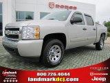2008 Silver Birch Metallic Chevrolet Silverado 1500 LS Crew Cab #47251708