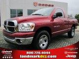 2007 Inferno Red Crystal Pearl Dodge Ram 1500 SLT Regular Cab #47251711
