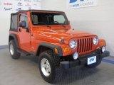 2006 Impact Orange Jeep Wrangler Sport 4x4 #47251955