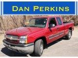 2005 Sport Red Metallic Chevrolet Silverado 1500 Z71 Extended Cab 4x4 #47291705