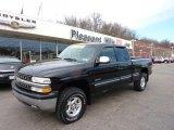 2002 Onyx Black Chevrolet Silverado 1500 LS Extended Cab 4x4 #47292307