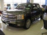2011 Steel Green Metallic Chevrolet Silverado 1500 LT Crew Cab #47291793