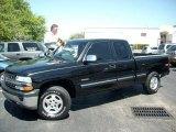 2002 Onyx Black Chevrolet Silverado 1500 LS Extended Cab 4x4 #47291947