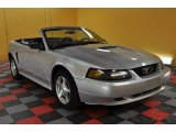 2001 Silver Metallic Ford Mustang V6 Convertible #47292375