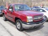 2004 Sport Red Metallic Chevrolet Silverado 1500 LS Regular Cab 4x4 #47291851