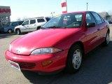 1999 Bright Red Chevrolet Cavalier Sedan #47292448