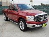 2007 Inferno Red Crystal Pearl Dodge Ram 1500 Lone Star Edition Quad Cab #47350777