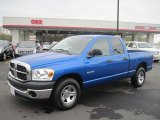 2008 Electric Blue Pearl Dodge Ram 1500 ST Quad Cab #47350882