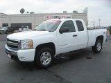 2009 Summit White Chevrolet Silverado 1500 LT Extended Cab 4x4 #47350924
