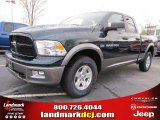 2011 Hunter Green Pearl Dodge Ram 1500 SLT Outdoorsman Quad Cab 4x4 #47402014
