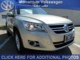 2011 White Gold Metallic Volkswagen Tiguan S #47402604