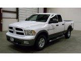 2011 Bright White Dodge Ram 1500 SLT Outdoorsman Quad Cab 4x4 #47402608