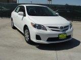 2011 Super White Toyota Corolla LE #47445229