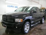 2004 Black Dodge Ram 1500 SLT Quad Cab 4x4 #47445706
