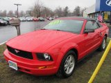 2006 Torch Red Ford Mustang V6 Deluxe Convertible #47445541