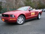 2007 Redfire Metallic Ford Mustang V6 Premium Convertible #47445183