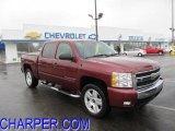 2008 Deep Ruby Metallic Chevrolet Silverado 1500 LT Crew Cab 4x4 #47445757
