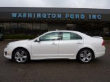 2011 White Platinum Tri-Coat Ford Fusion Sport AWD #47445348