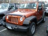 2011 Mango Tango Pearl Jeep Wrangler Sport 4x4 #47498768