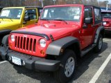 2011 Flame Red Jeep Wrangler Sport 4x4 #47498769