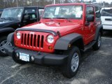 2011 Flame Red Jeep Wrangler Sport 4x4 #47498776