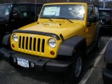 2011 Detonator Yellow Jeep Wrangler Sport 4x4 #47498790