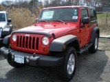 2011 Flame Red Jeep Wrangler Sport S 4x4 #47498794