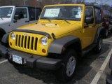 2011 Detonator Yellow Jeep Wrangler Sport 4x4 #47498795