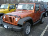 2011 Mango Tango Pearl Jeep Wrangler Sport 4x4 #47498797