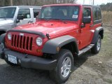 2011 Flame Red Jeep Wrangler Sport 4x4 #47498798