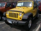 2011 Detonator Yellow Jeep Wrangler Sport S 4x4 #47498720