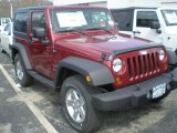 2011 Deep Cherry Red Crystal Pearl Jeep Wrangler Sport S 4x4 #47498732