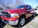 2009 Inferno Red Crystal Pearl Dodge Ram 1500 SLT Quad Cab 4x4 #47499227