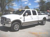 2005 Oxford White Ford F350 Super Duty King Ranch Crew Cab 4x4 #47498979