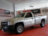 2008 Graystone Metallic Chevrolet Silverado 1500 Work Truck Regular Cab #47499265
