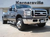 2005 Dark Stone Metallic Ford F350 Super Duty Lariat Crew Cab 4x4 Dually #47529008