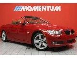2008 Crimson Red BMW 3 Series 335i Convertible #47528976
