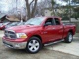 2010 Inferno Red Crystal Pearl Dodge Ram 1500 ST Quad Cab 4x4 #47539583