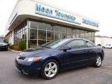 2007 Royal Blue Pearl Honda Civic EX Coupe #47539249